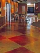 Thi công nhuộm màu sàn bê tông