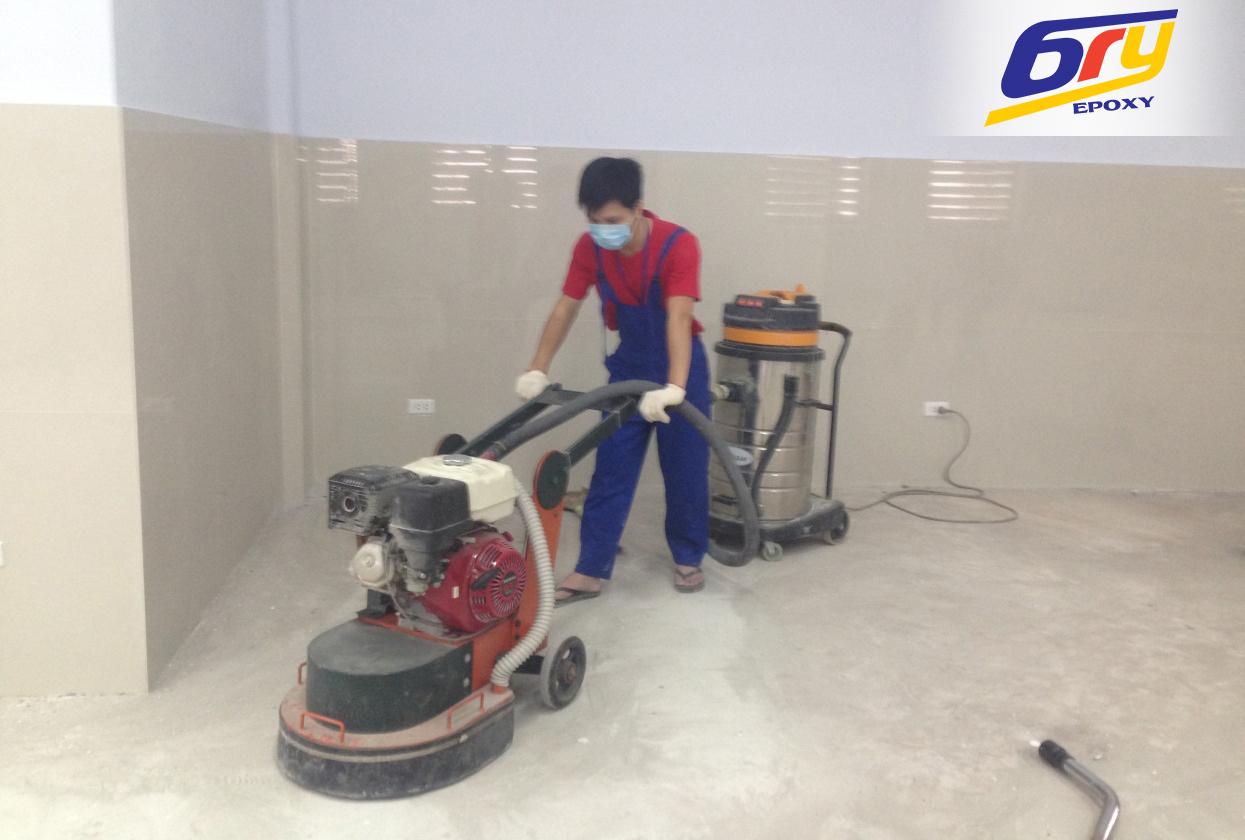 Điều kiện bắt buộc trong quy trình thi công sơn epoxy